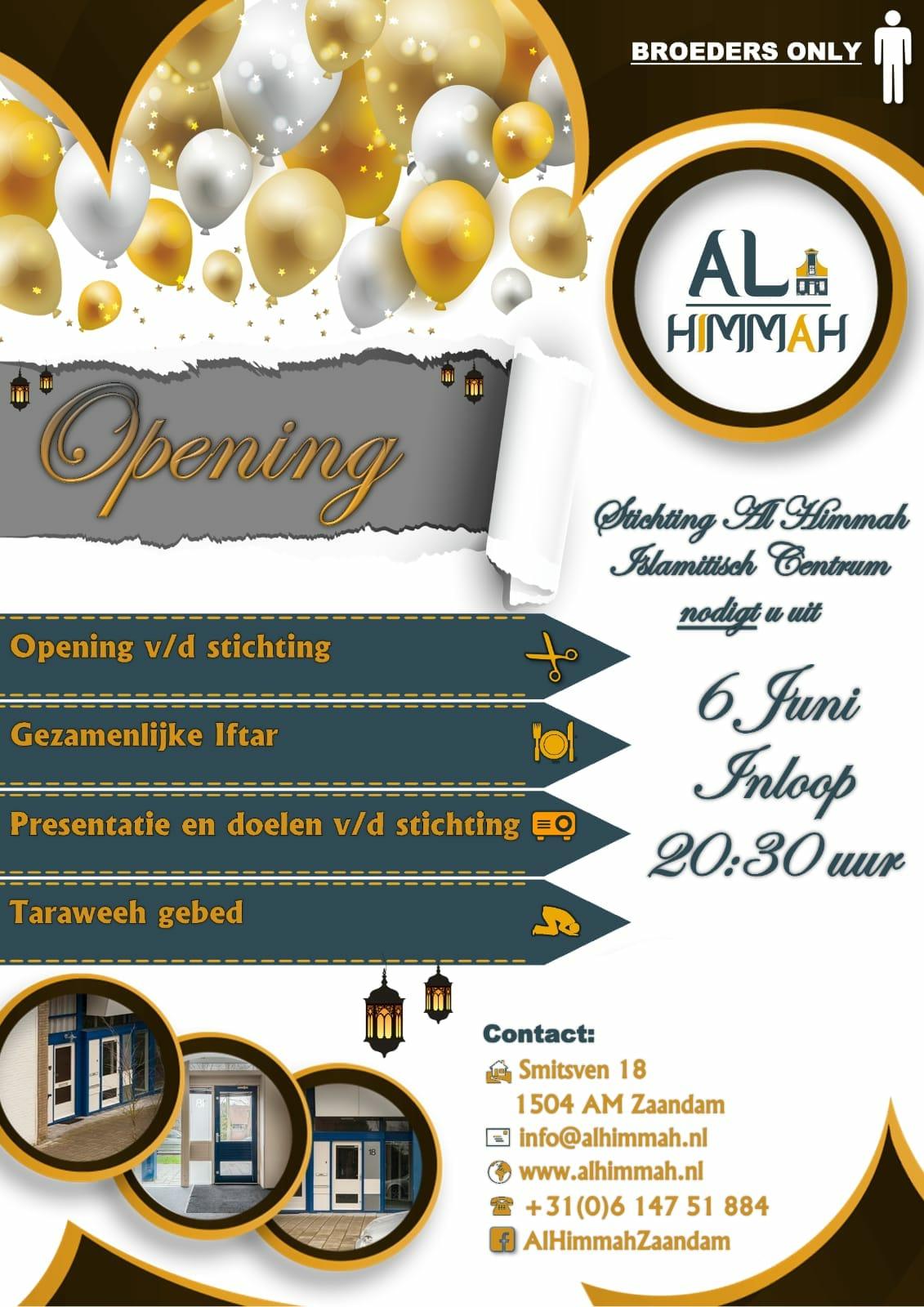 Al Himmah opening flyer